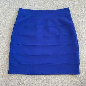 H&M Blue Bandage Skirt Sz 4
